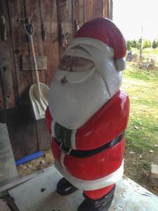 Santa gets a fresh coat of paint